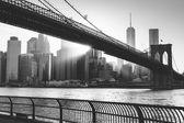 Fotografie Brooklynský most při západu slunce