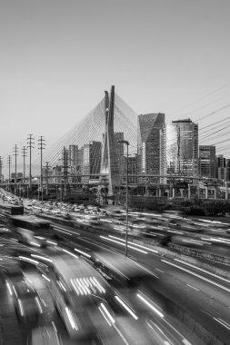 Octavio Frias de Oliveira Bridge in Sao Paulo Brazil