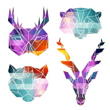Bright animals icons