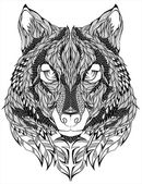 Photo Wolf head tattoo