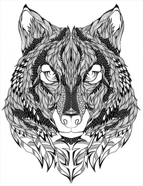 Wolf head tattoo