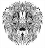 Fotografie Lion head tattoo