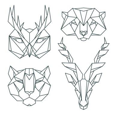 Animal icon set.