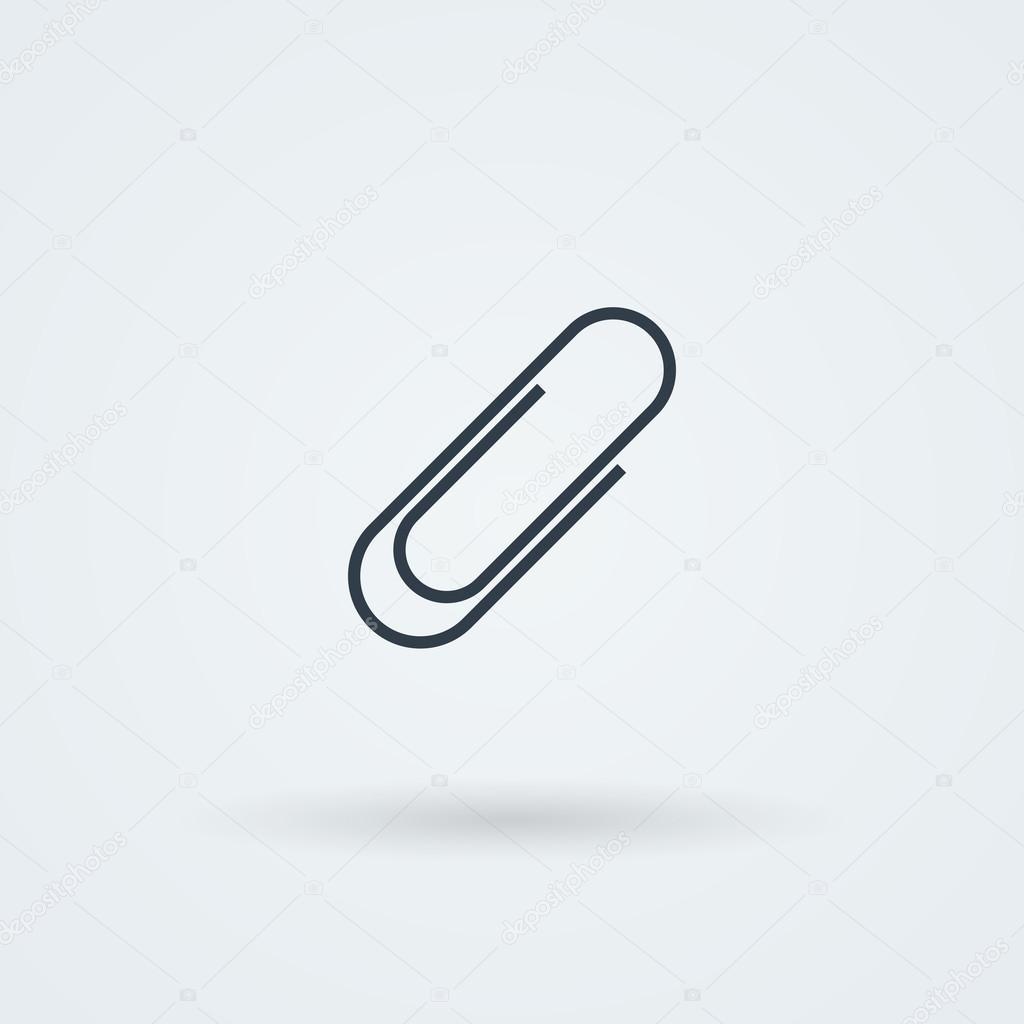 Vector paper clip icon.