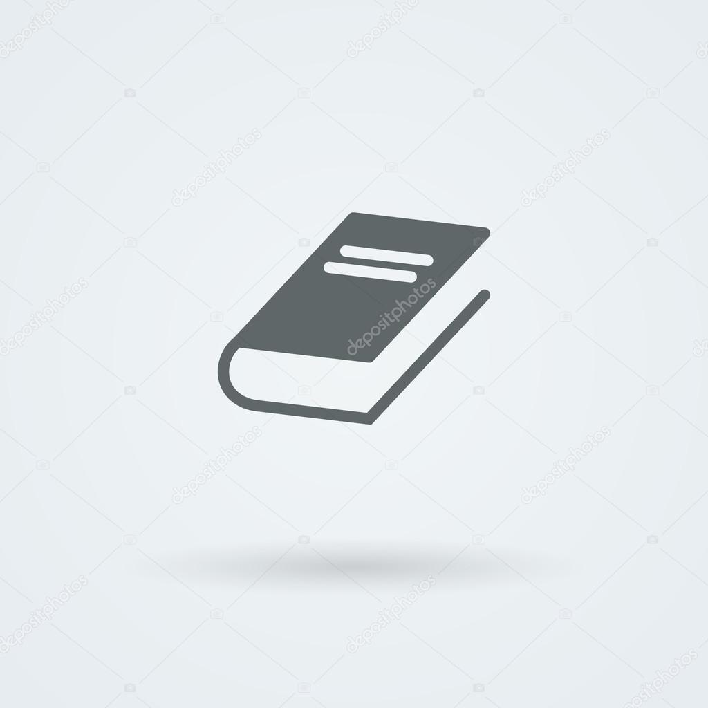 Vector book icon, simple flat design.