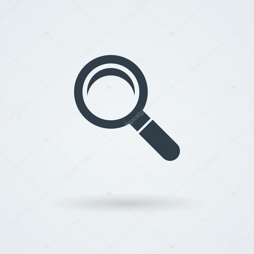Vector search icon. Glass Lens.