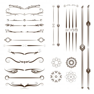 A diverse collection of dividers, bumpers, frames, ornaments