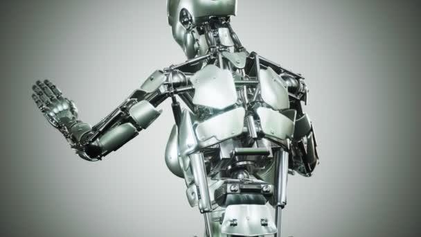 Sexy robot android žena kyborg