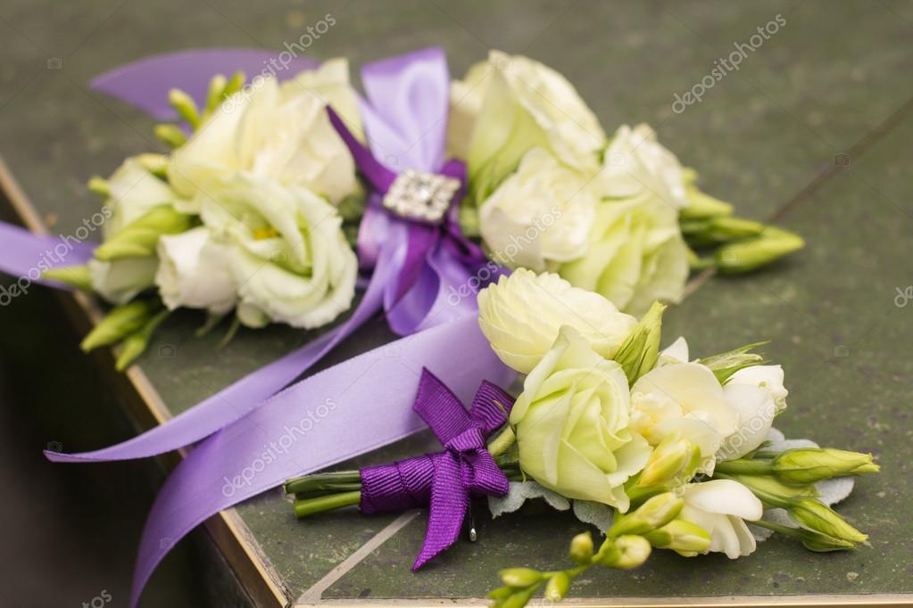 Hochzeitsdekoration Blumen Blumenstrauss Vor Hochzeit Hintergrund