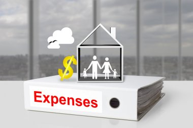 Office binder expenses family cost of living