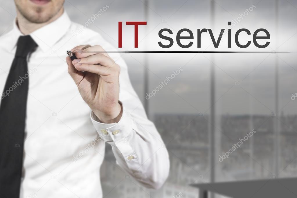businessman expert writing it service