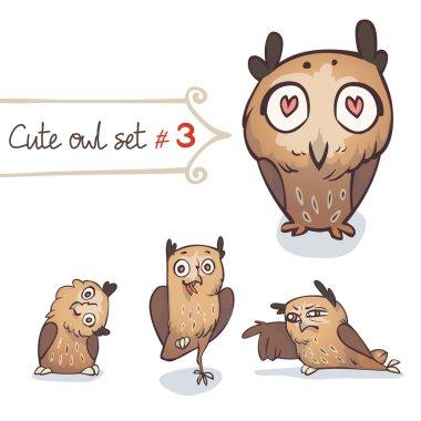Cute Little Owl Set