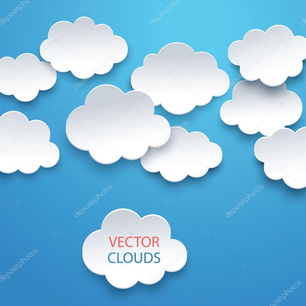 vector sky with clouds stock vector swavo 101416604 rh depositphotos com vector skydive rig vector skyline rotterdam