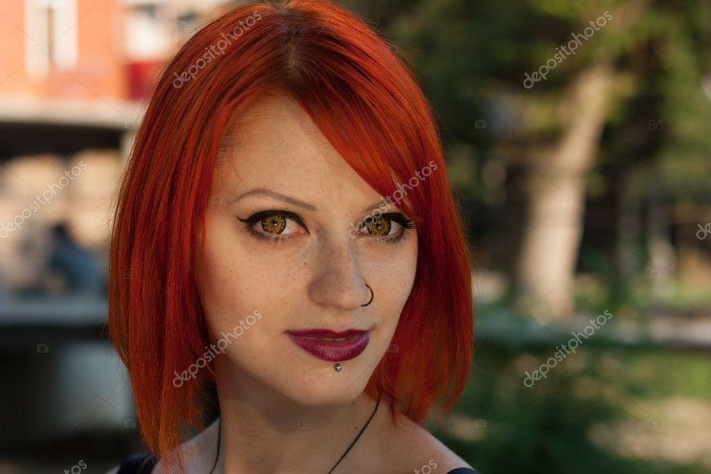 Pretty red hair girl