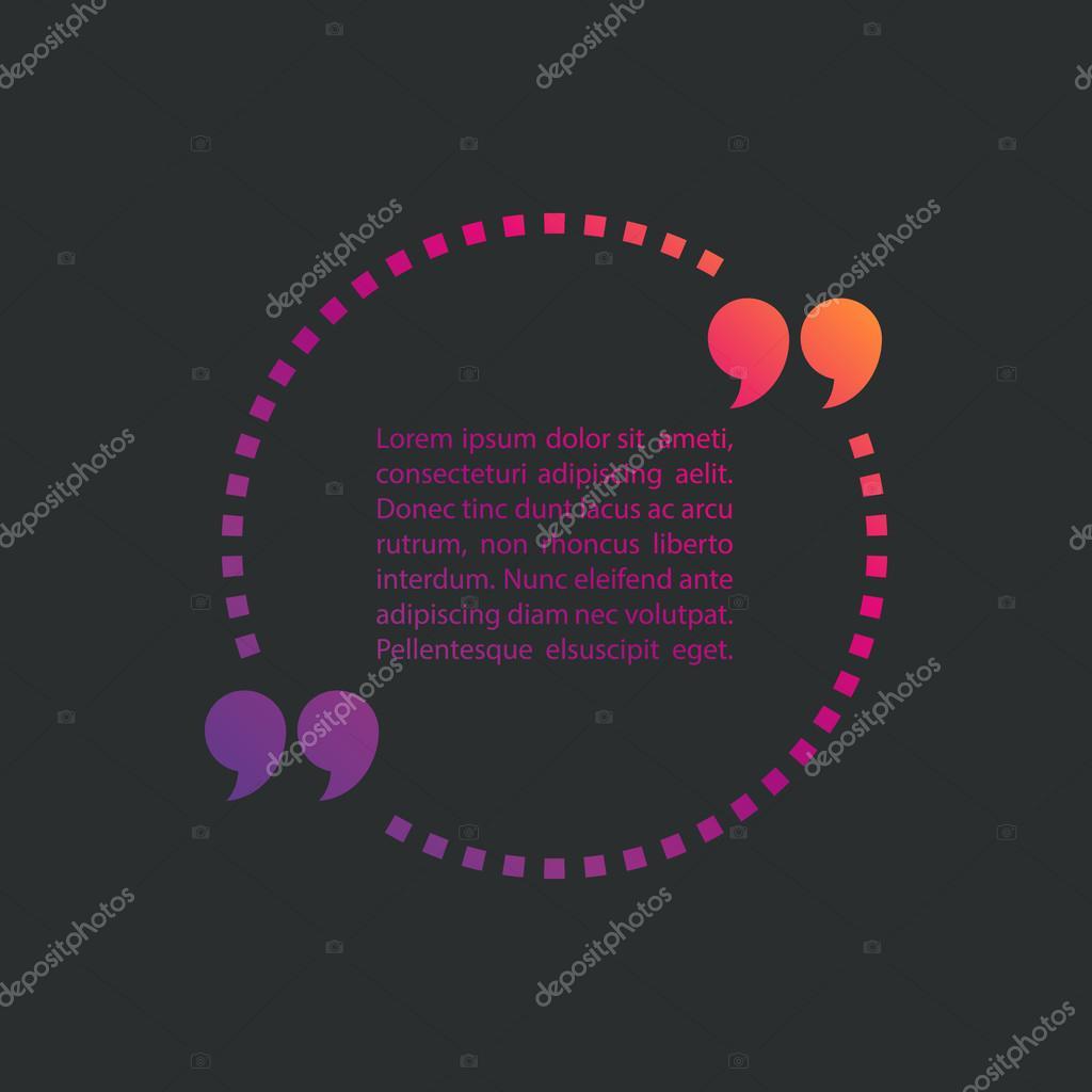 Gepunktete Zitat Text Blase. Anführungszeichen-Sprechblase. Schild ...