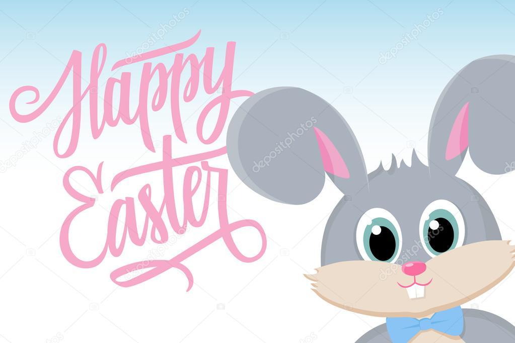 Niedliche Osterhasen Frohe Ostern Grüße Glückliches Ostern