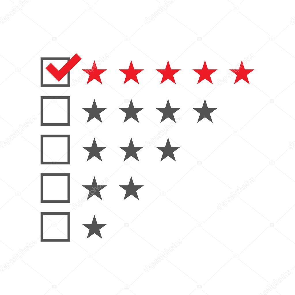 Fünf-Sterne-Bewertung-Vorlage — Stockvektor © Finevector #103527244