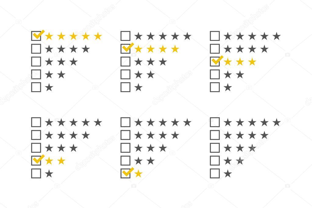 Bewertung von Sternen festgelegt. Sterne Bewertung Vorlage. Sternen ...