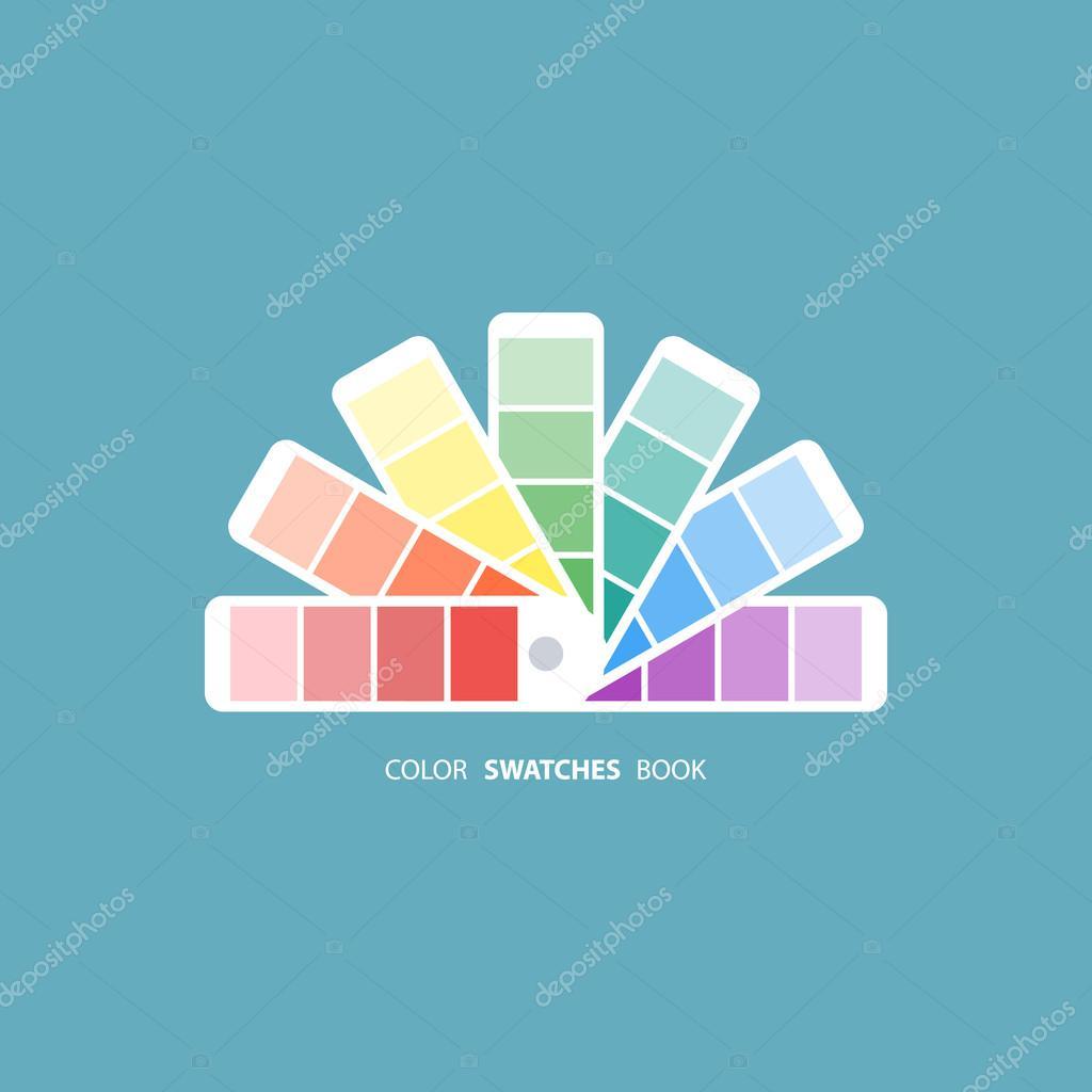 Color swatches book. Color palette guide. Color swatch icon. Color ...