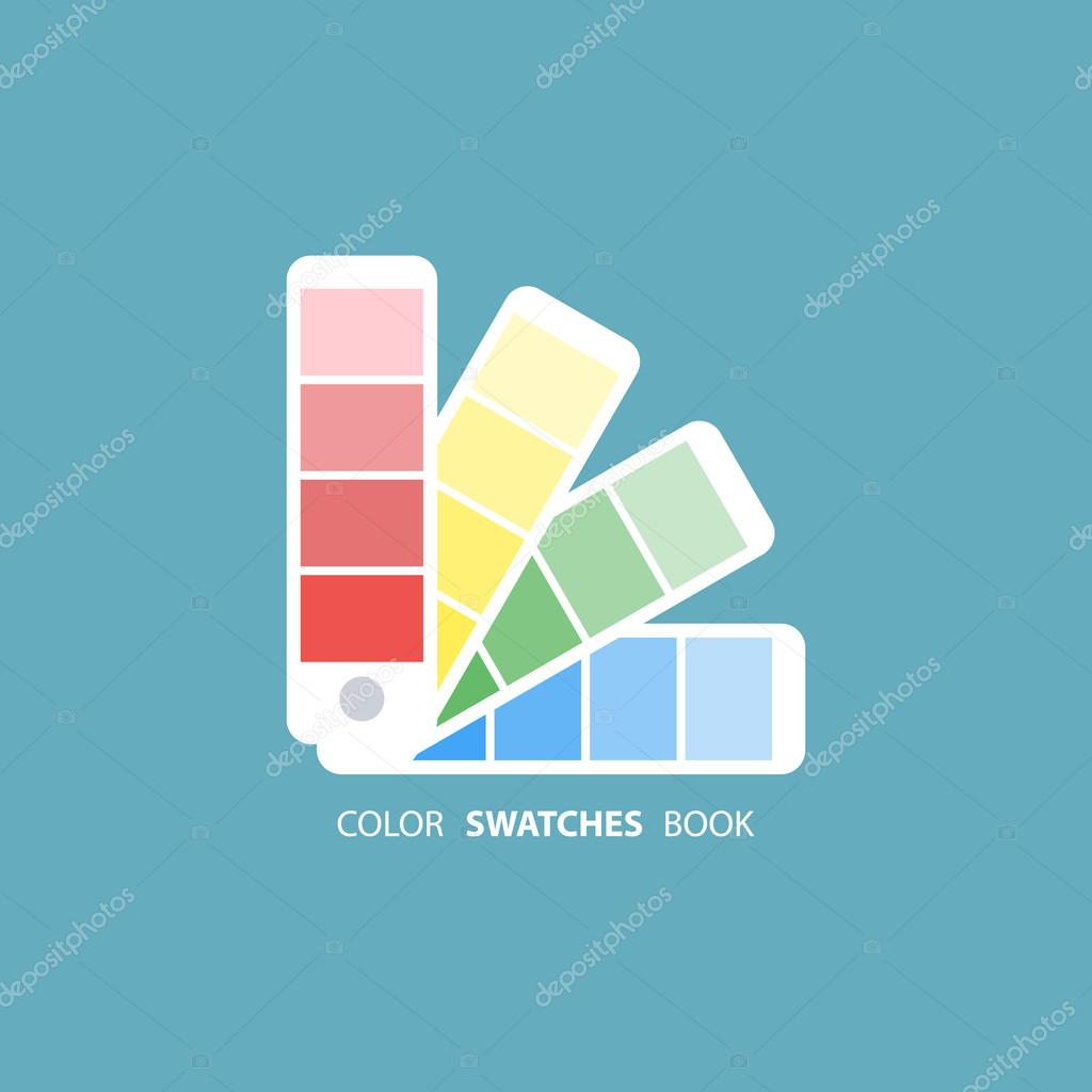 Color swatches book. Color palette guide. — Stock Vector ...