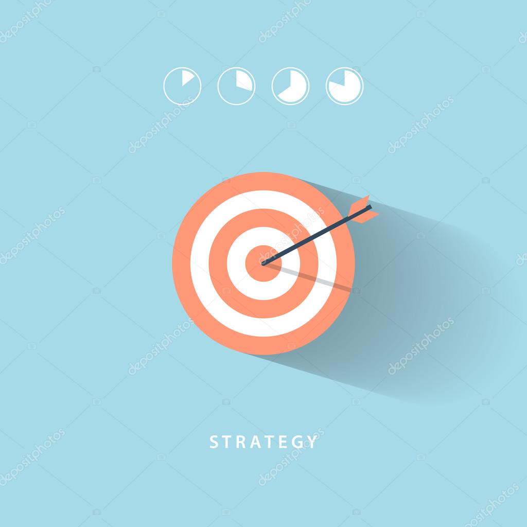 Business strategy and activity. Flat vector illustration.