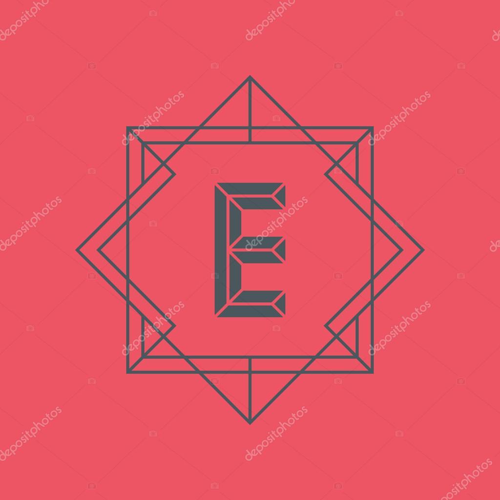 Letter e logo icon design template e letter outline monogram letter e logo icon design template e letter outline monogram stock vector spiritdancerdesigns Images