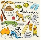 Ausztrália ikonok gyűjteménye