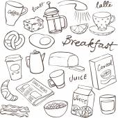 Breakfast food and icons