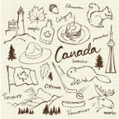 Fotografie Canada icons set