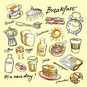 Fotografie Breakfast food and icons