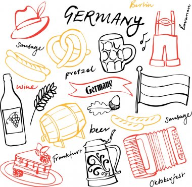 Germany icons pattern