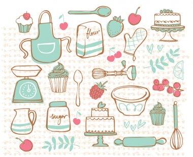 Baking kitchen iconsv