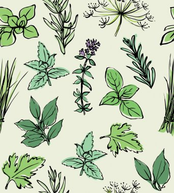 Fresh herbs pattern
