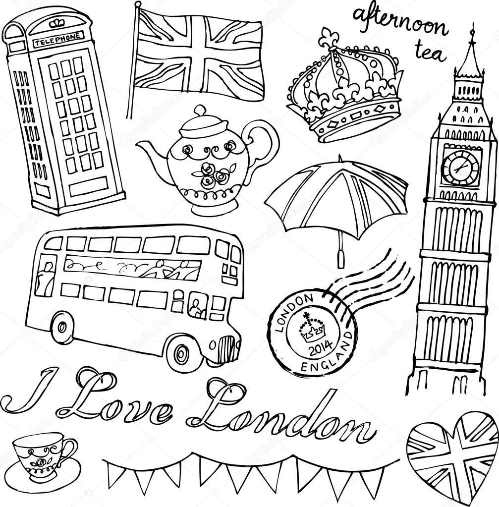 I Love London icons — Stock Vector © OMW #64251627
