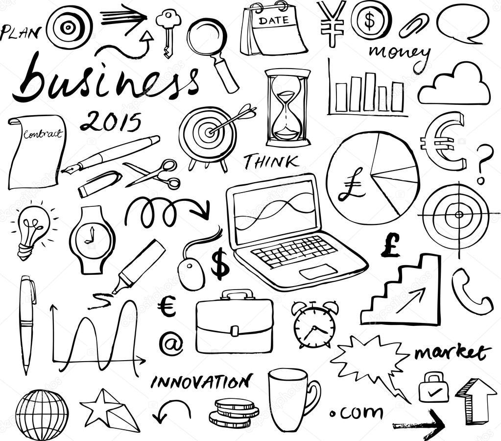 Geschäfts-Strategie-Ikonen — Stockvektor © OMW #64252097