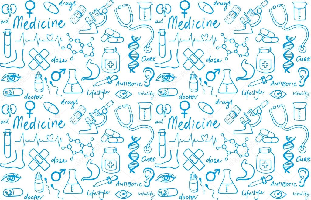 Медичні іконки безшовні