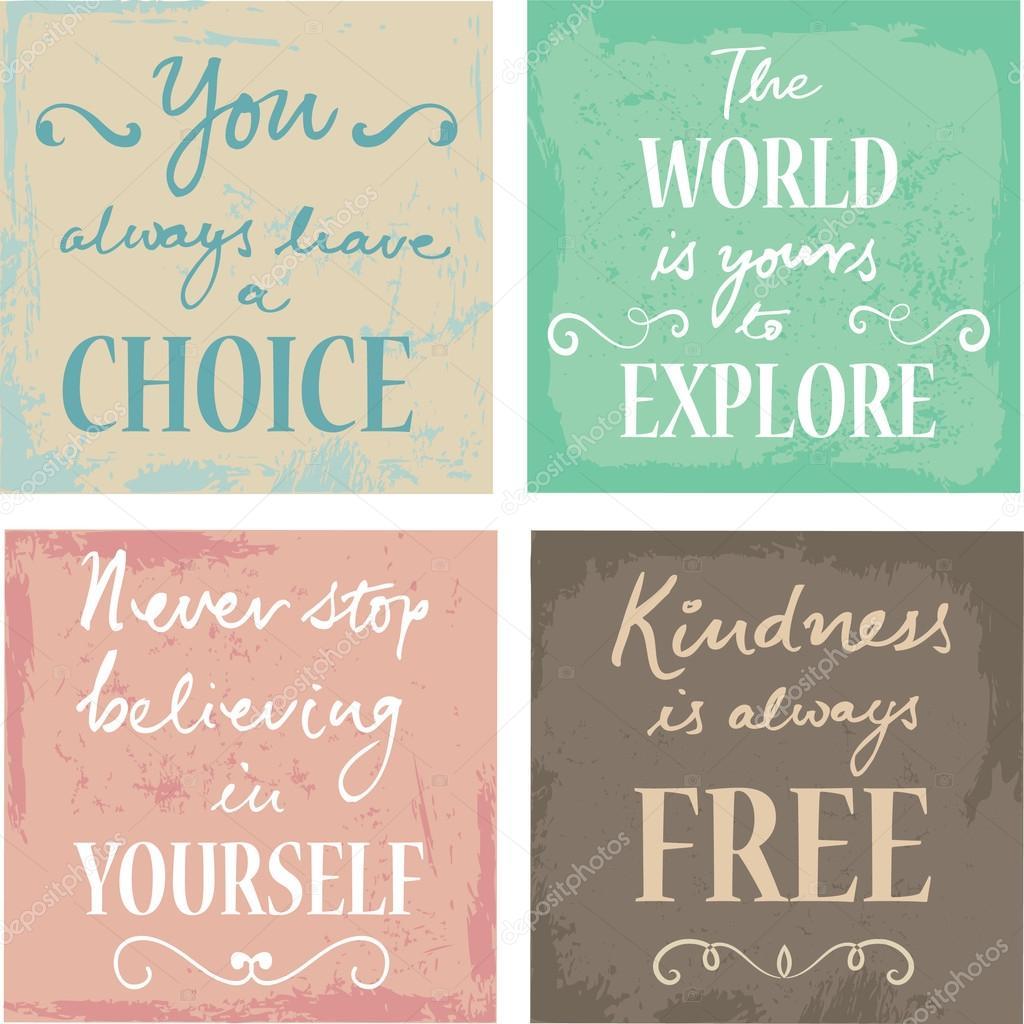 Citaten Kunst Free : Set van inspirerende citaten u stockvector omw