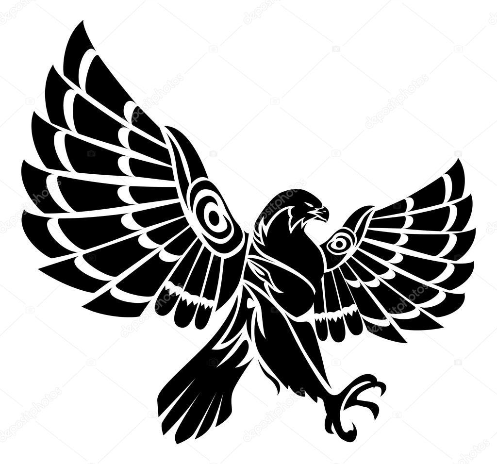 tatuaje tribal águila — Fotos de Stock © onionime #124103062