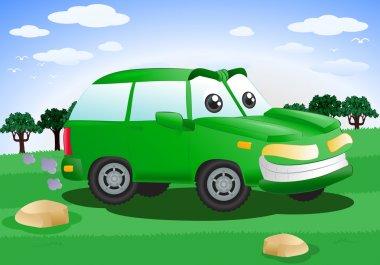 green suv car