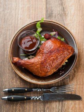 Roasted chicken leg