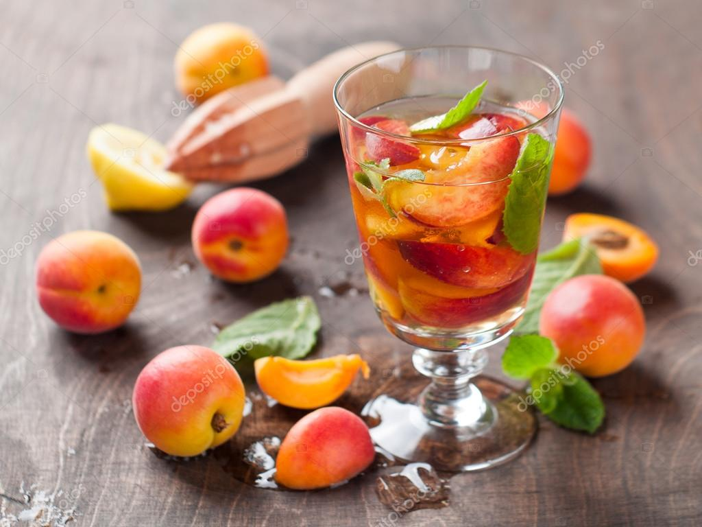 Summer drink with apricot