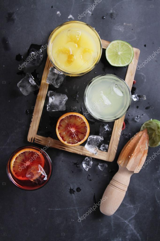 Different fresh cocktail