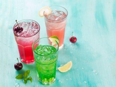 Various beverage (cocktail or lemonade)