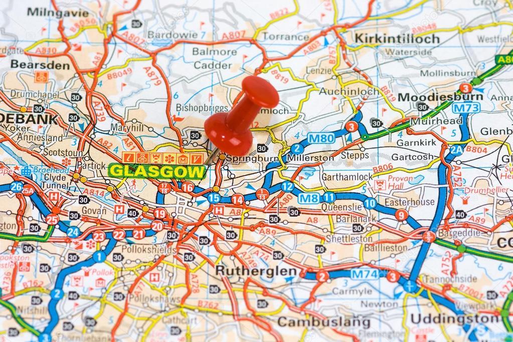 karta över glasgow Gatan karta över Glasgow — Stockfotografi © chris2766 #59981165 karta över glasgow