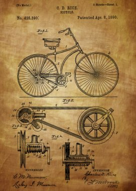 Bicycle patent from 1890