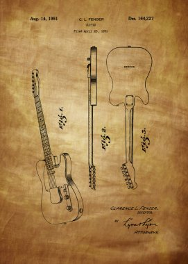 Fender guitar patent from 1951