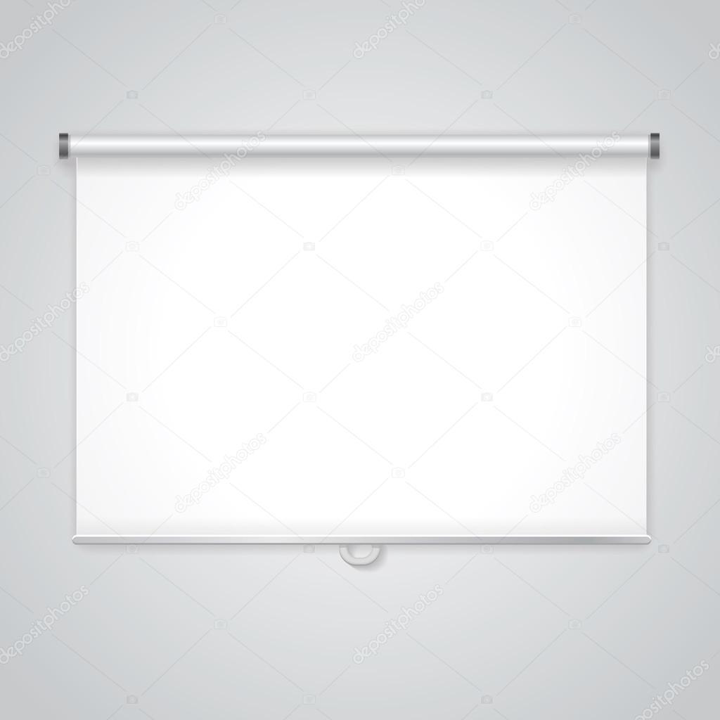 投影プレゼンテーション画面 ビジネス 空の紙のホワイト ボード