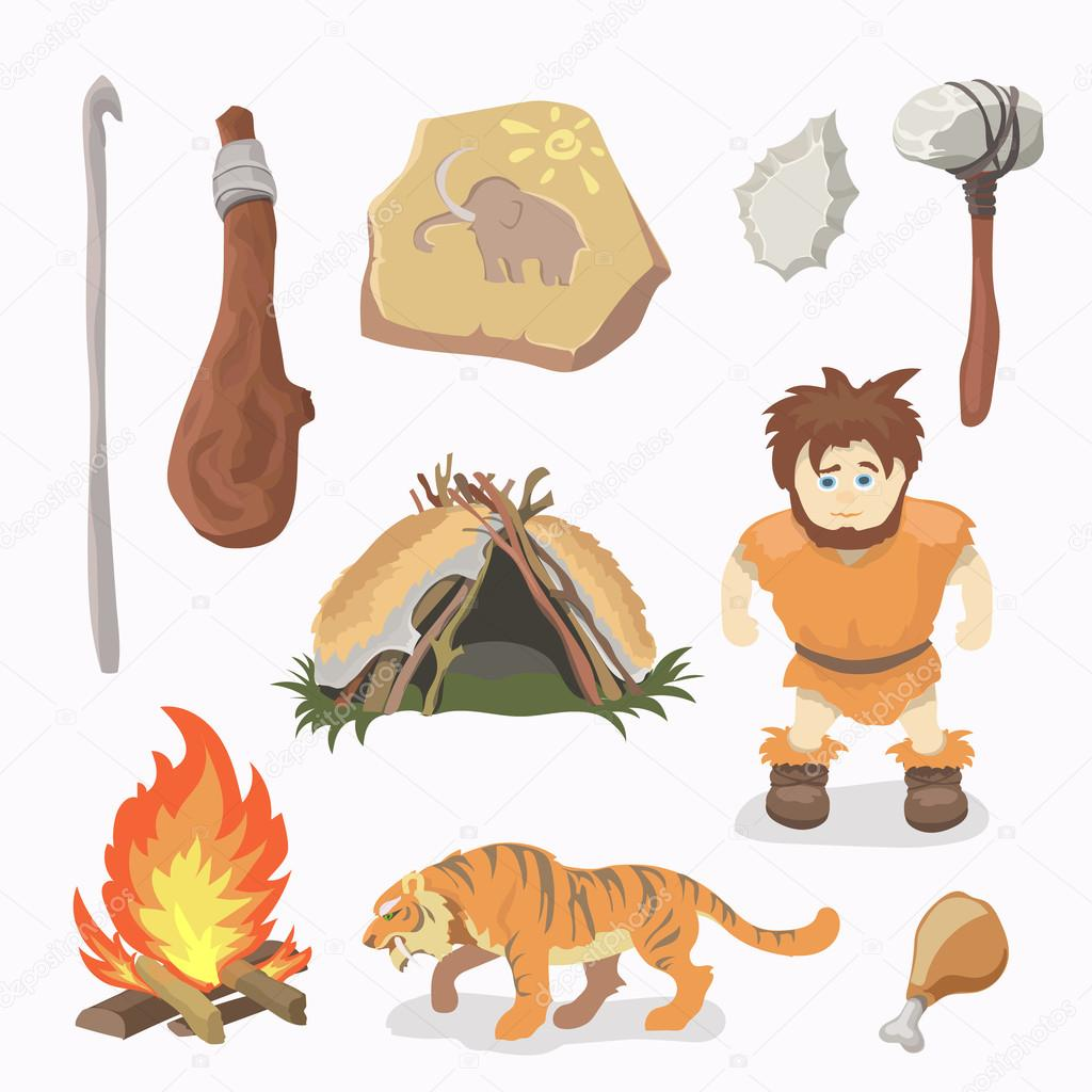 Uomo primitivo icone di et della pietra uomini delle for Piani di caverna di garage uomo