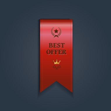 Special offer ribbon -  illustration
