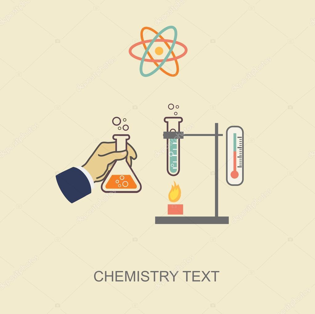 Ilustración vectorial de química infografía, infografía plantilla ...